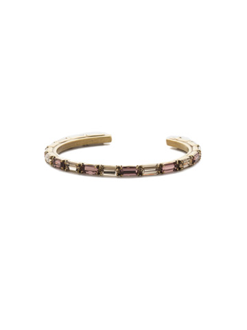 Brilliant Baguette Cuff in Antique Gold-tone Mighty Maroon
