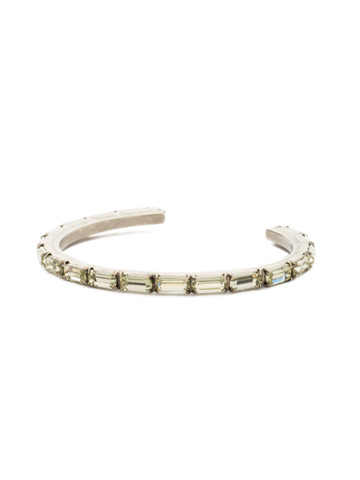 Brilliant Baguette Cuff in Antique Silver-tone Crystal Champagne