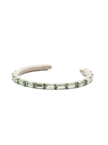 Brilliant Baguette Cuff in Antique Silver-tone Mint