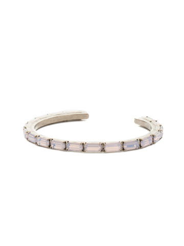 Brilliant Baguette Cuff in Antique Silver-tone Rose Water