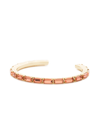 Brilliant Baguette Cuff in Bright Gold-tone Coral