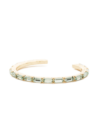 Brilliant Baguette Cuff in Bright Gold-tone Mint