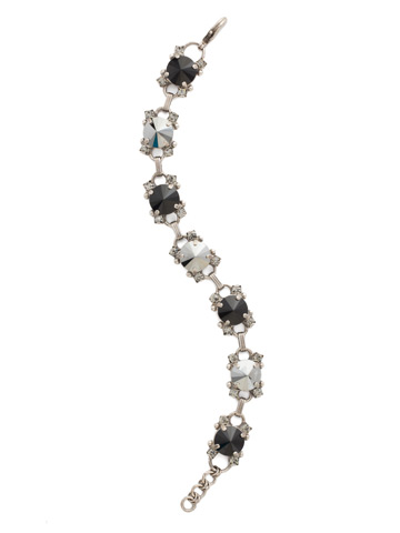 Marigold Classic Line Bracelet in Antique Silver-tone Black Onyx