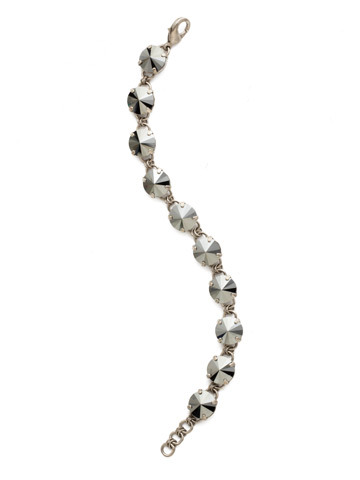 Simply Sophisticated Line Bracelet in Antique Silver-tone Black Onyx