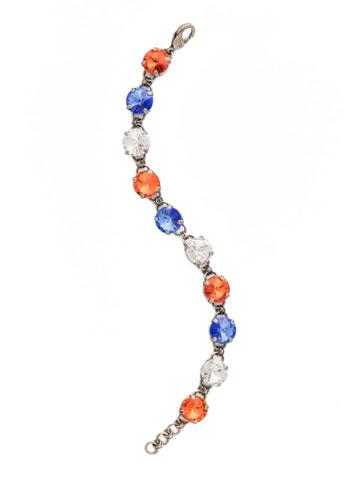 Simply Sophisticated Line Bracelet in Antique Silver-tone Orange Crush