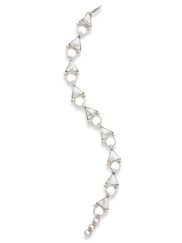 Perfectly Appointed Bracelet in Antique Silver-tone White Howlite
