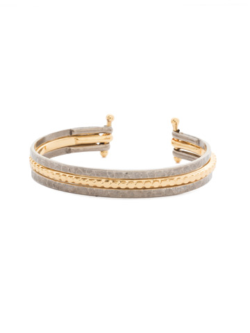 Mixed Metals Cuff Bracelet in Mixed Metal Crystal