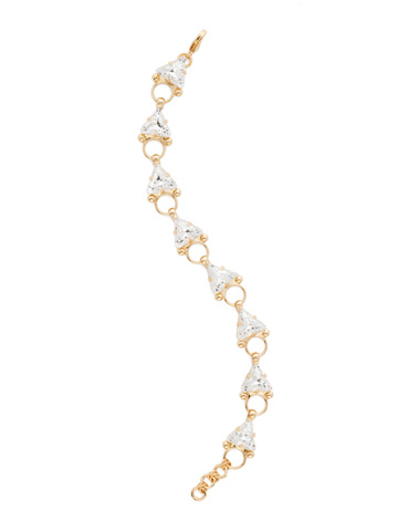 Tri Me Bracelet in Bright Gold-tone Crystal