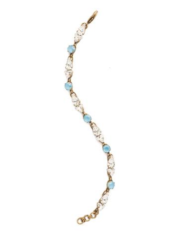 Fine Line Bracelet in Antique Gold-tone Denim Blue