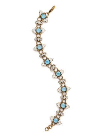 Rough Around the Edges Bracelet in Antique Gold-tone Denim Blue