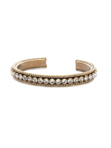 Channeling Chic Cuff Bracelet in Antique Gold-tone Crystal