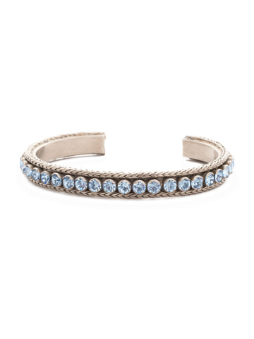 Channeling Chic Cuff Bracelet in Antique Silver-tone Pastel Prep