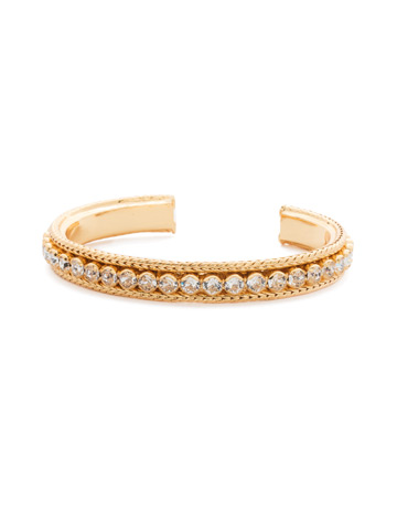 Channeling Chic Cuff Bracelet in Bright Gold-tone Crystal