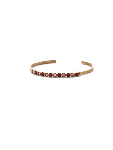 Dotted Line Cuff Bracelet in Antique Gold-tone Go Garnet