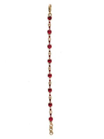 Connect the Dots Bracelet in Antique Gold-tone Go Garnet