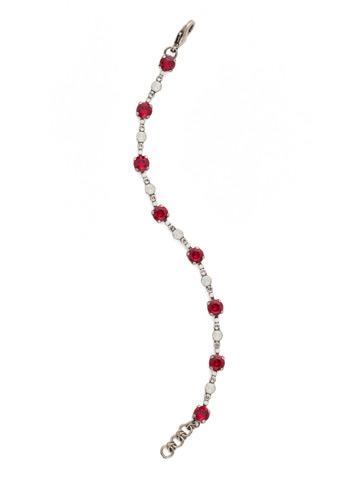 Connect the Dots Bracelet in Antique Silver-tone Crimson Pride
