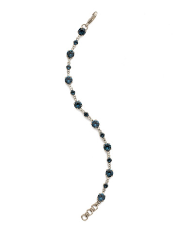 Connect the Dots Bracelet in Antique Silver-tone Glory Blue