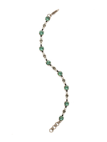 Connect the Dots Bracelet in Antique Silver-tone Game Day Green