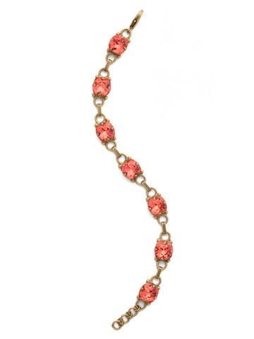Eyelet Line Bracelet in Antique Gold-tone Coral