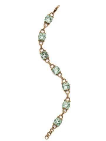 Eyelet Line Bracelet in Antique Gold-tone Mint