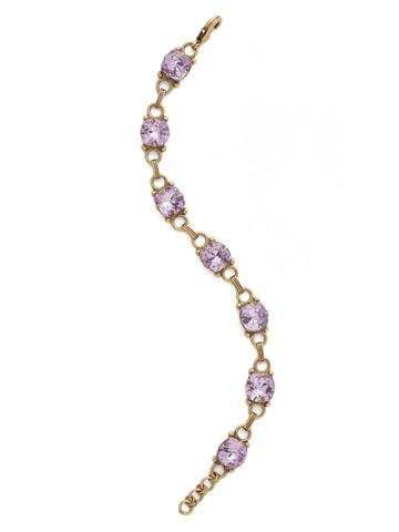 Eyelet Line Bracelet in Antique Gold-tone Violet