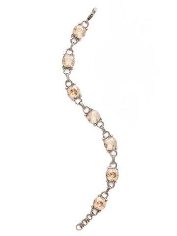Eyelet Line Bracelet in Antique Silver-tone Dark Champagne