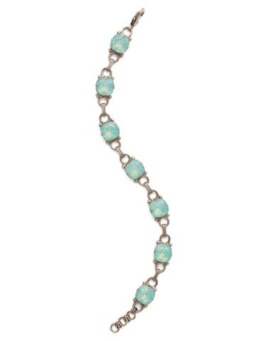 Eyelet Line Bracelet in Antique Silver-tone Pacific Opal