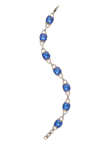 Eyelet Line Bracelet in Antique Silver-tone Sapphire