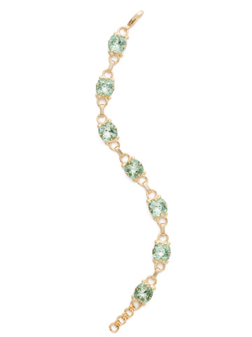 Eyelet Line Bracelet in Bright Gold-tone Mint