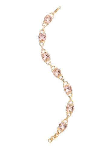 Eyelet Line Bracelet in Bright Gold-tone Vintage Rose