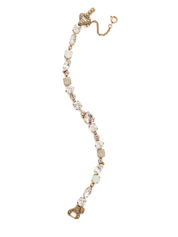 Modern Muse Bracelet in Antique Gold-tone White Magnolia