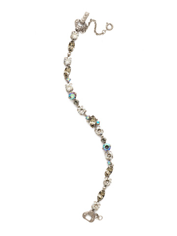 Modern Muse Bracelet in Antique Silver-tone Crystal Rock