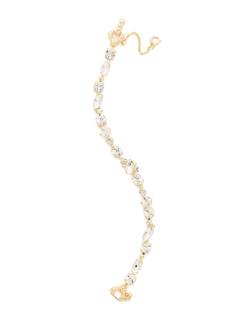 Modern Muse Bracelet in Bright Gold-tone Crystal