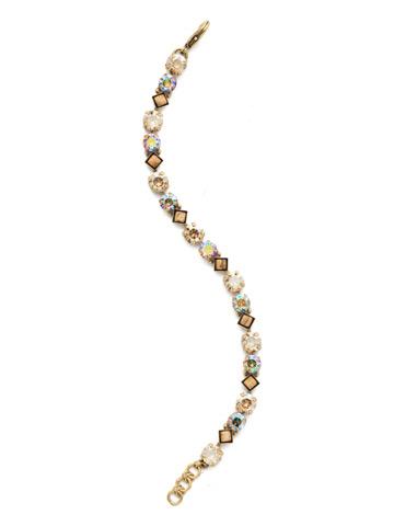 Darling Diamond Tennis Bracelet in Antique Gold-tone Neutral Territory