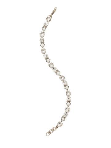 Darling Diamond Tennis Bracelet in Antique Silver-tone Crystal