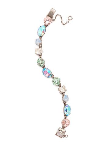 Soft Silhouette Classic Line Bracelet in Antique Silver-tone Pastel Prep