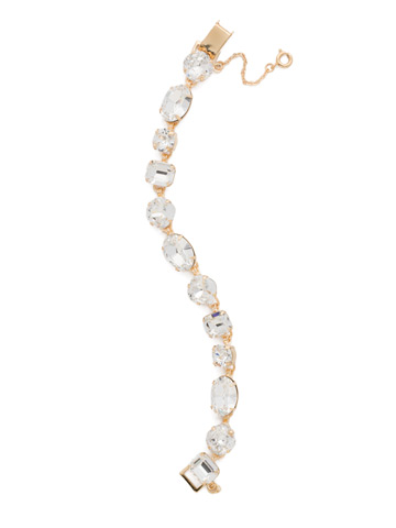 Soft Silhouette Classic Line Bracelet in Bright Gold-tone Crystal