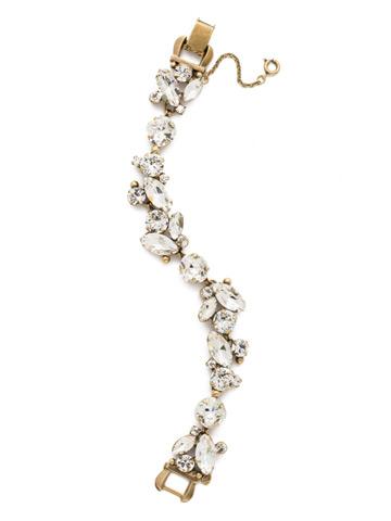 Radiant Vine Bracelet in Antique Gold-tone Crystal