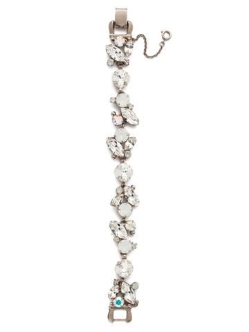 Radiant Vine Bracelet in Antique Silver-tone White Bridal