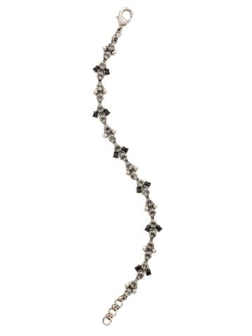 Clematis Bracelet in Antique Silver-tone Black Onyx