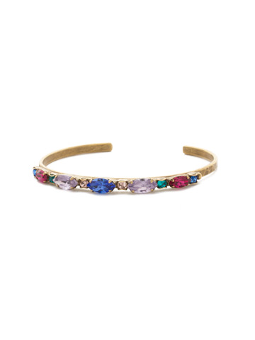 Modish Marquise Bracelet in Antique Gold-tone Wildflower