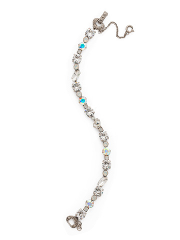 Always and Forever Bracelet in Antique Silver-tone White Bridal
