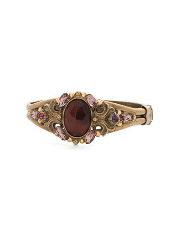 Flora Filigree Bracelet in Antique Gold-tone Mahogany