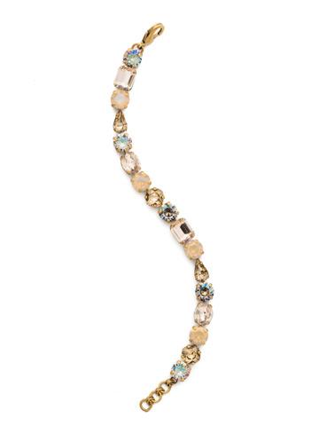 Clover Classic Line Bracelet in Antique Gold-tone Sandstone