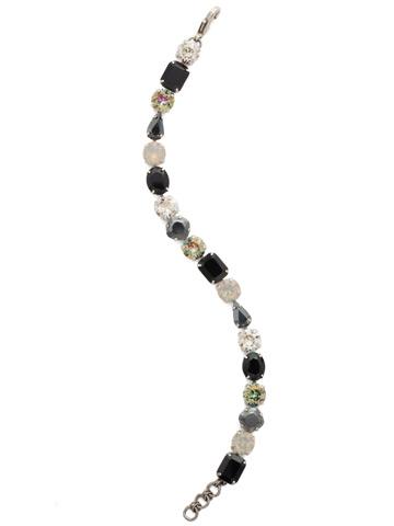 Clover Classic Line Bracelet in Antique Silver-tone Black Onyx