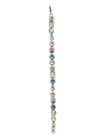 Clover Classic Line Bracelet in Antique Silver-tone Crystal Rock