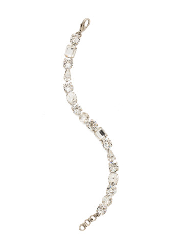 Clover Classic Line Bracelet in Antique Silver-tone Crystal