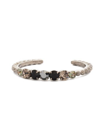 Mimosa Bracelet in Antique Silver-tone Black Onyx