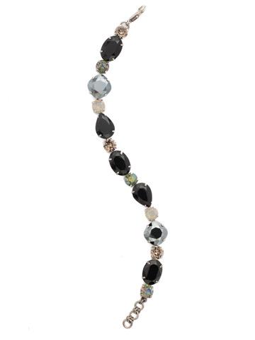 Narcissus Bracelet in Antique Silver-tone Black Onyx
