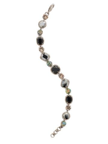 Dahlia Bracelet in Antique Silver-tone Black Onyx